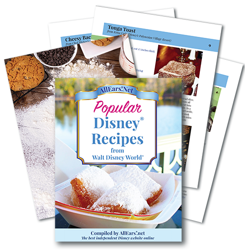 Disney recipe booklet